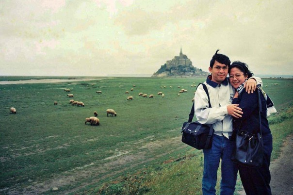 Me and My Wife near Mont Saint Michel
