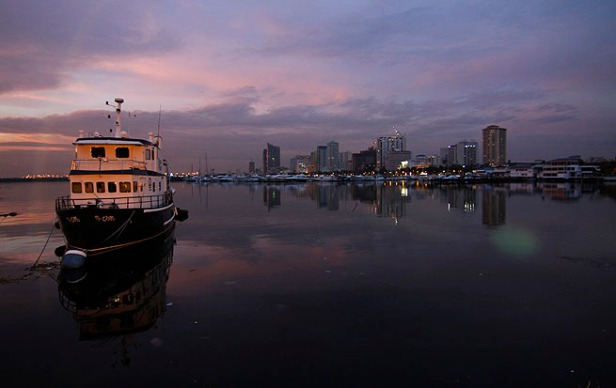 Sunset di Manila Bay