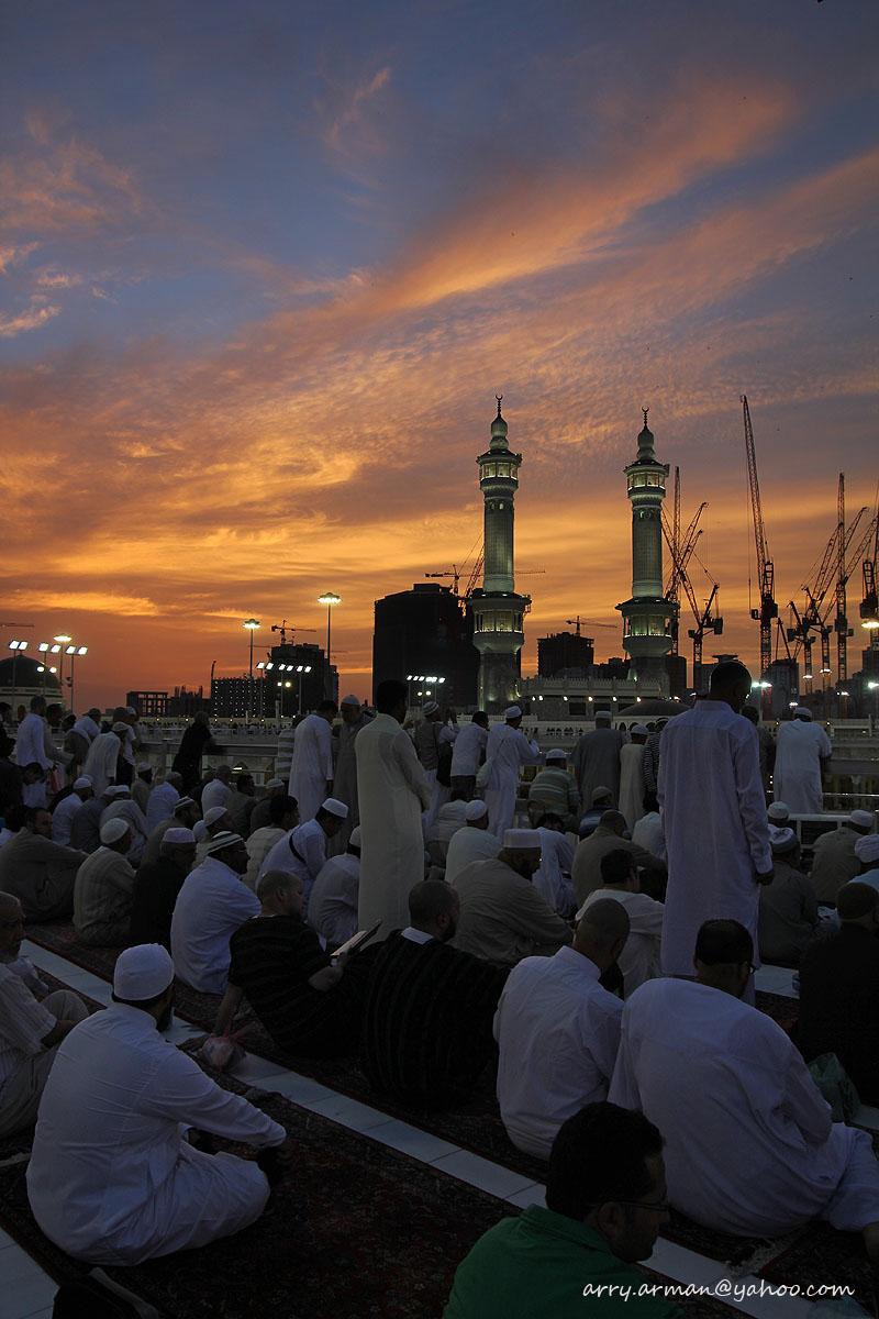 Sunset at Masjidil Haram