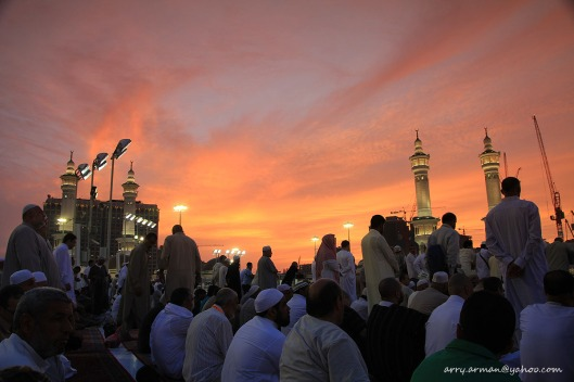 Sunset at Masjidil Haram