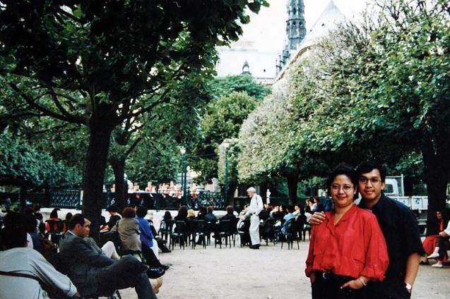 Enjoying Free Concert at The Backyard of Notre Dame