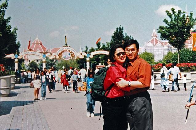 Me and My Wife in Paris Disneyland