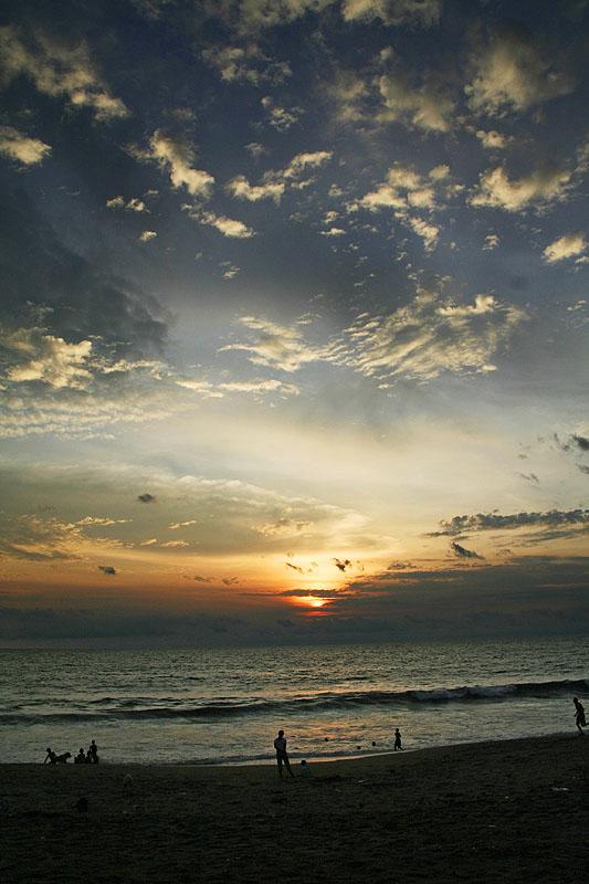 Sunset at Batu Belig Beach, Bali
