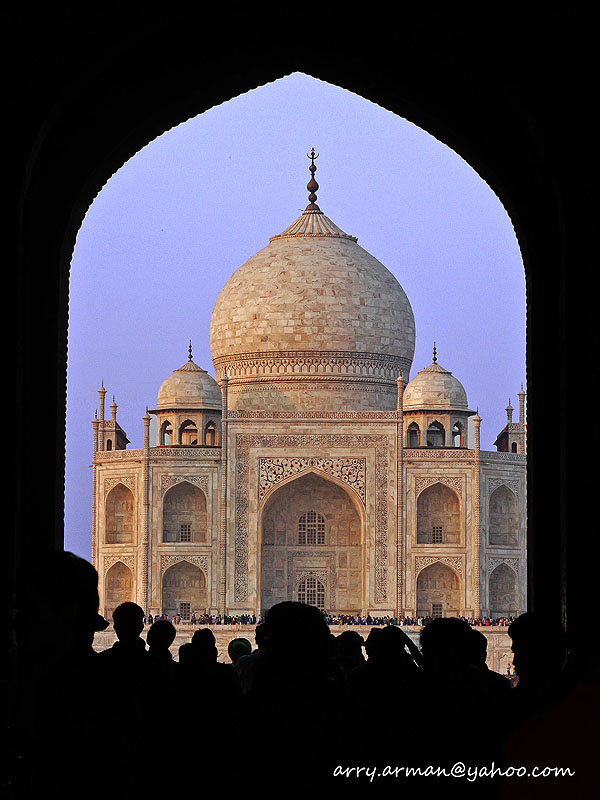 Taj Mahal, shooted from the  Entering Gate